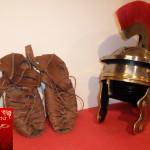 caligae -calzari ed elmo sodato antica roma