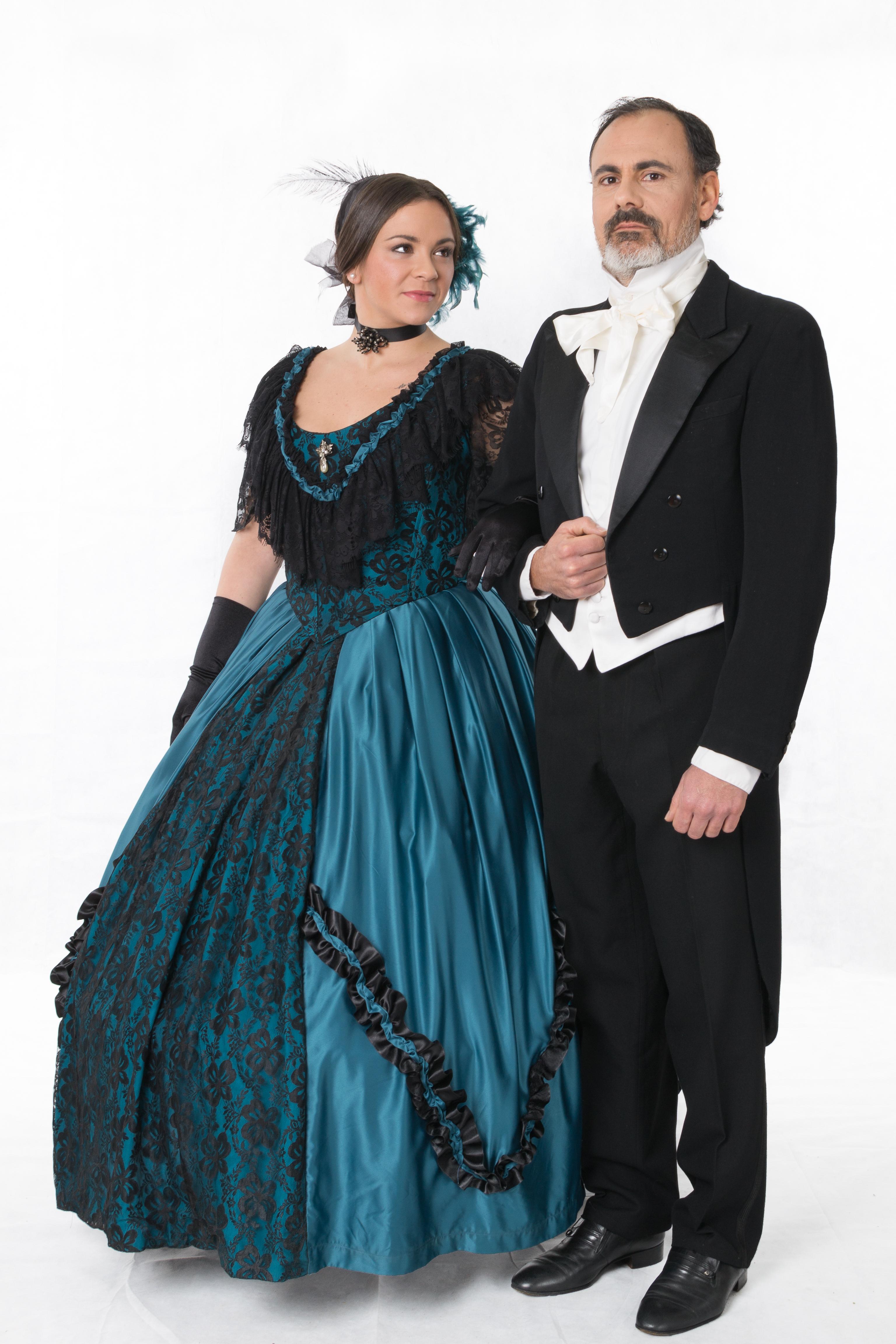 coppia nobili abiti 1850