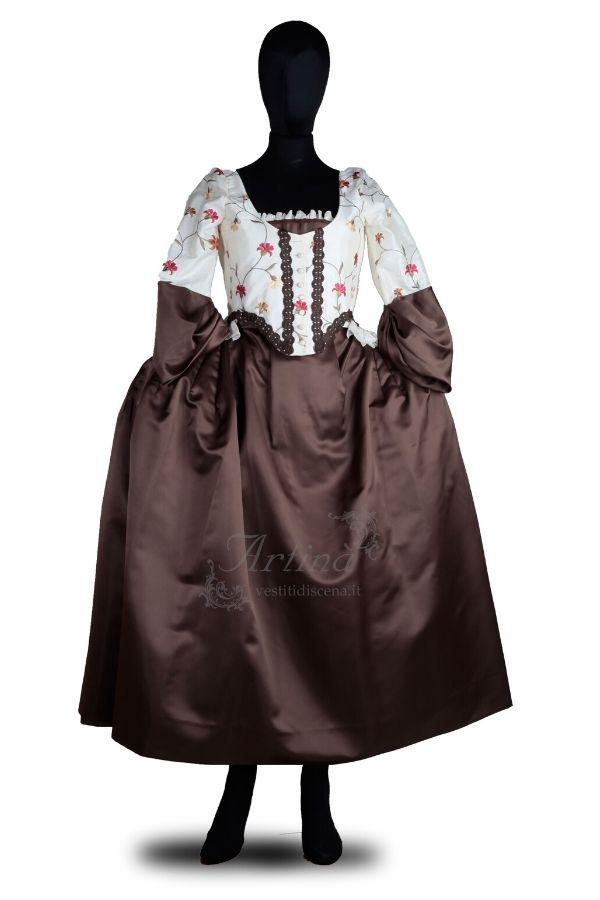 abito-dama-700-sopra-bianco-fiori-sotto-bronzo-manichino