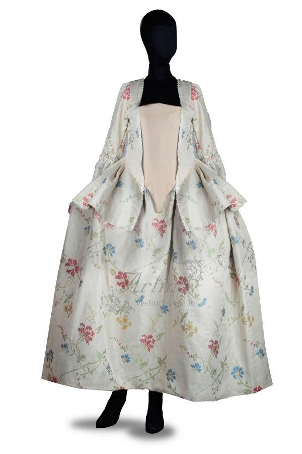 abito-settecentesco-fantasia-floreale-manichino