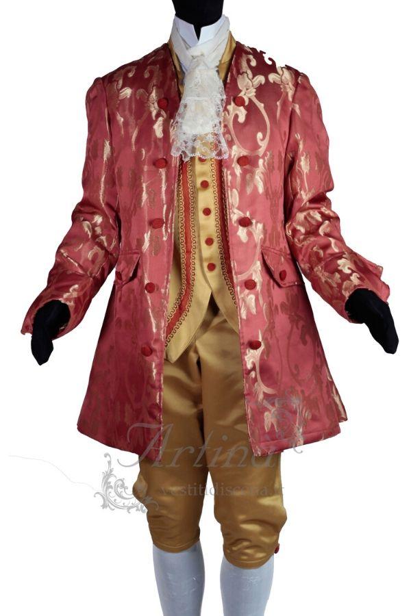 abiti-settecenteschi-uomo-rosso-oro