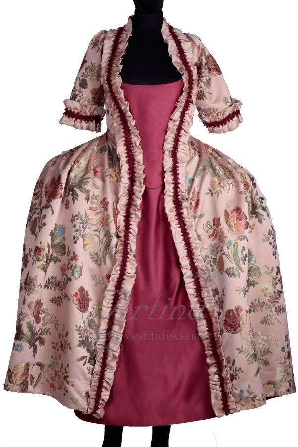 abito-fantasia-floreale-con-sottoveste-rossa-manichino-tagliato